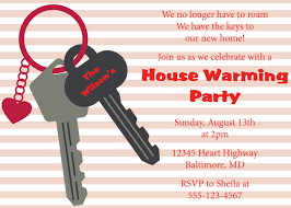 Invitation Card For Housewarming Birthday Housewarming Invitation