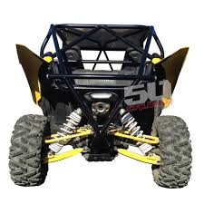 rear race light bar yamaha yxz 1000r roll cage with integrated rear bumper and tire rack