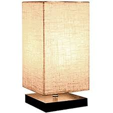 Bedroom Table Lamps Zeefo Simple Table Lamp Bedside Desk Lamp With Fabric Shade And