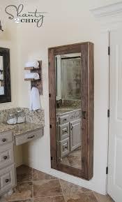 Bathroom Mirror Photos Diy Bathroom Mirror Storage Shanty 2 Chic