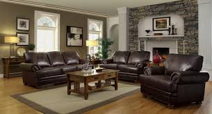 Family Room Design With Brown Leather Sofa Living Room Decorating Ideas With Brown Leather Furniture
