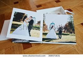 wedding album book white leather wedding book wedding album stock photo 398571631