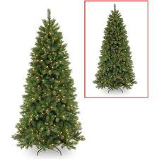 national tree pre lit 7 1 2 lehigh valley pine slim hinged