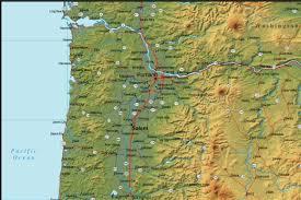 Roseburg Oregon Map Oregon Map And Oregon Satellite Images