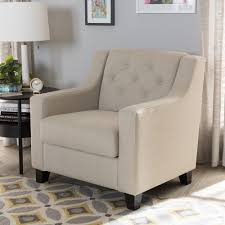 upholstered club chair baxton studio arcadia modern and contemporary light beige fabric