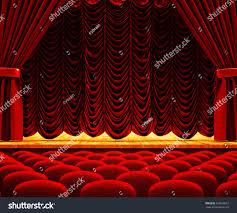 Velvet Curtain Club Dramatic Performance Drama Show Concept Theatre Stock Illustration