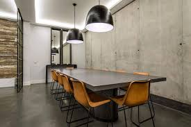 modern industrial madrid home dressed in concrete wood and gray