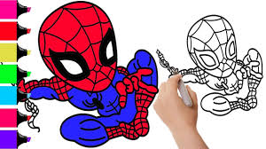 how to draw spiderman for bad kids superheroes coloring pages