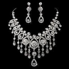 swarovski crystal necklace set images Eye catching swarovski crystal necklace set wedding jewellery jpg