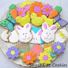 Decorating Easter Eggs With Royal Icing by Sugar Dot Cookies Easter Spring Decorated Sugar Cookies