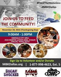 the annual mbk dallas feed the homeless drive returns to south