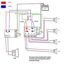 mono amp to sub plus 4 channel amp to speakers wiring diagram
