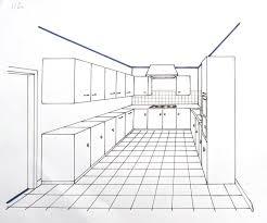 dessiner en perspective une cuisine perspective et espacements les bases du dessin et de la peinture