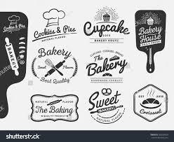 set bakery bread logo labels design stock vector 295628639