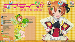 live themes windows 7 theme win 7 love live school idol project hoshizora rin by kanza