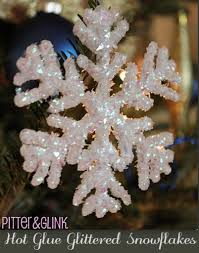 glue glittered snowflake ornaments featuring bethany from