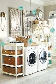 small laundry room organization ideas with diy custom wood rack