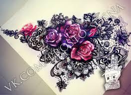 flower lace tattoo lace tattoo pinterest lace tattoo tattoo