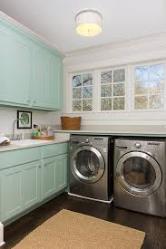 turquoise cabinets contemporary laundry room benjamin moore