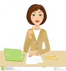 image de secretaire au bureau secrétaire de bureau illustration de vecteur illustration du