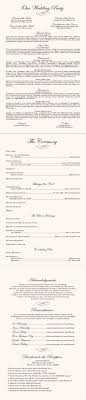 sle wording for wedding programs wedding ceremony programs wording finding wedding ideas