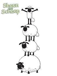 kids fun 3 coloring pages shaun sheep