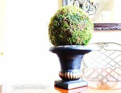 Mantel Topiaries - moss balls and topiaries size does matter spring decorations