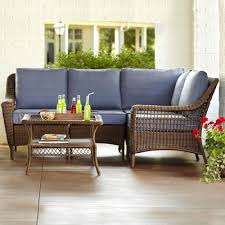 Living Room Wicker Furniture Wicker Patio Furniture Sets The Home Depot