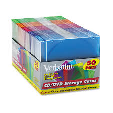 verbatim cd dvd slim case assorted colors 50 pack walmart com