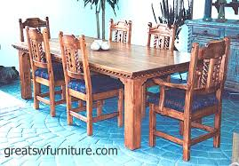 Mission Southwest Style Dining Set Tables Chairs China Cabinets - Mission dining room table