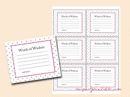 bridal shower words of wisdom kate spade inspired hot pink dots bridal shower
