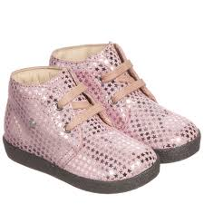 by naturino girls pink stars suede lace up ankle boots