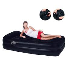new bestway single flocked inflatable comfort quest air bed with