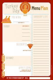 27 free thanksgiving printables thanksgiving menu planner menu
