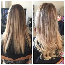 ombre hair extensions uk all damaged brassy to ombre we added 50 balmain pre