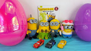 despicable me 3 minions cars 3 lightning mcqueen cruz ramirez