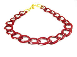 red chain link necklace images Huge vintage curb chain necklace brooklyn charm jpg