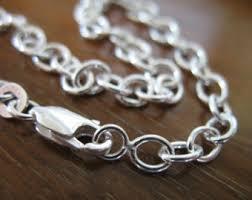 sterling charm bracelet chain images Thick chain bracelet etsy jpg