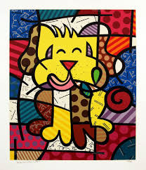 romero britto romero britto best friend serigraph on paper subject illustration