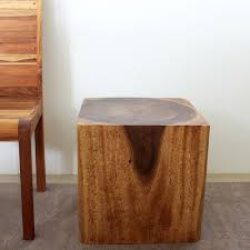 Overstock Com Wooden Cube 18 Walnut Oil End Table Thailand Overstock Com