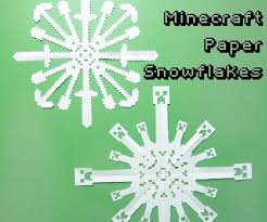 minecraft paper snowflakes 4 steps with pictures