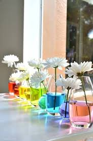 Decorate A Vase Colored Water For Vases Colorful Home Water Flowers Inspiration