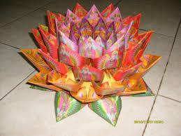 cara membuat origami bunga dari uang kertas informasi belajar anak interaktif origami seni membuat kerajinan