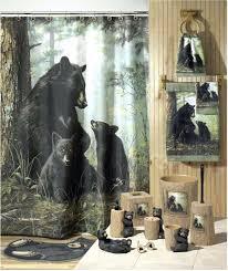 chicago bears shower curtain hooks shower design black bear shower smlf nature