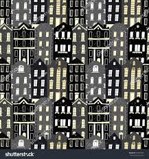 European Style Houses Vector Seamless Pattern Colorful European Style Stock Vector