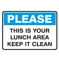 keep kitchen clean this is your lunch area keep it clean