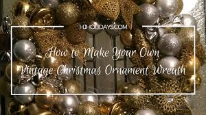 to make your own vintage ornament wreath