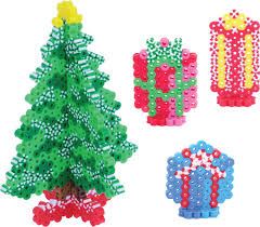 christmas decorating perler beads fused bead kit hama noël