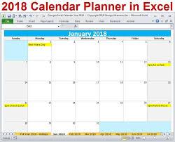 20 best 2018 calendar year excel templates digital download