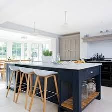 navy wood and grey kitchen designed by grant k gibson at